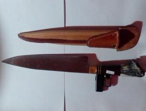 1025 - Cuchillo anillado 24 cm (acero negro)